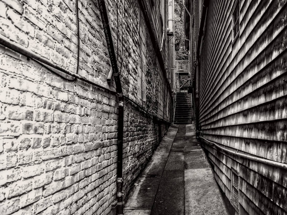 Alley in Sausalito, by Ken Douglas