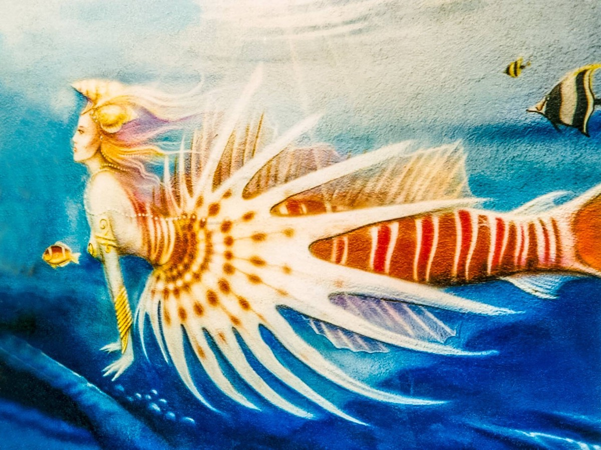 Mural of a Mermaid in Martinique