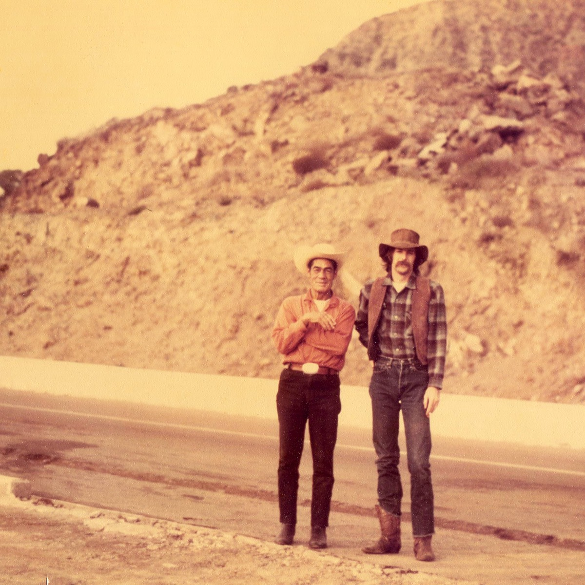 Ken  Douglas and an unknown Mexican. This photo was taken south of Tijuana about a half century ago.