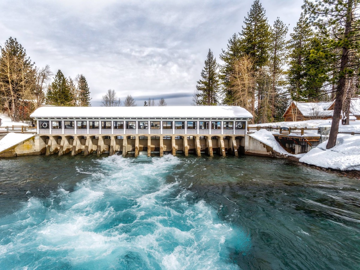 The Lake Tahoe Dam, by Ken Douglas