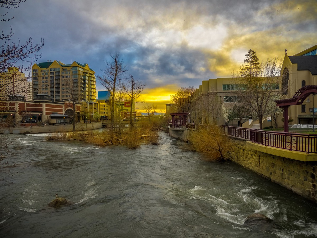 The Truckee Under an Overcast Dawn, by Ken Douglas