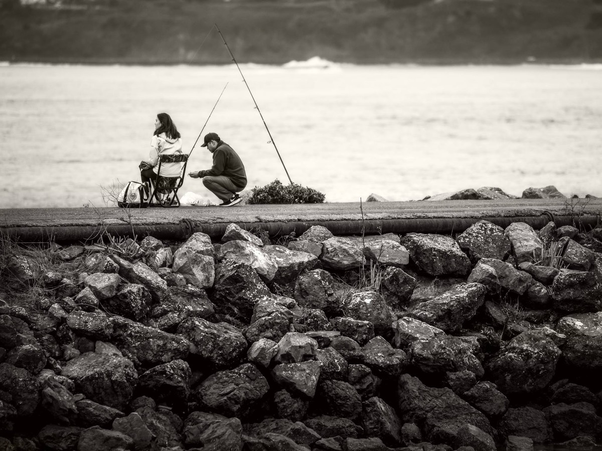 Two Anglers, by Ken Dougas