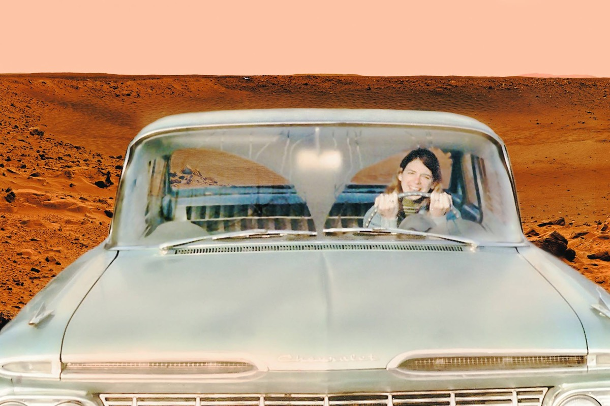 Vesta Irene Driving her 59 Chevy on Mars